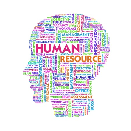 resources management: Word cloud business concept, human resource