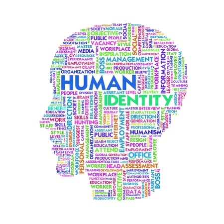 Word cloud business concept, human resource photo