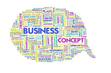 Business word inside speech bubble,Business concept Stock Photo - 11568649