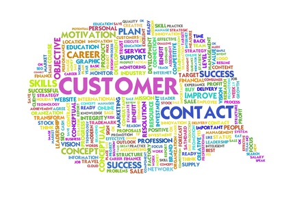 Business word inside speech bubble, customer focus Stock Photo - 11568669