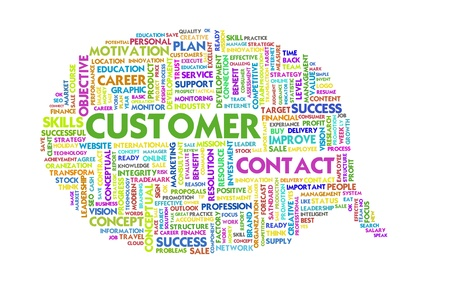 Business word inside speech bubble, customer service Stock Photo - 11568673