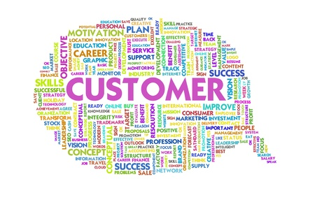 Business word inside speech bubble, customer focus Stock Photo - 11568699