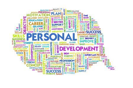 personal development: Business word inside speech bubble,Business concept Stock Photo