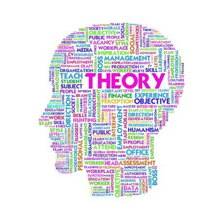 cognicion: Palabra nube concepto de negocio dentro de forma de la cabeza, aprender y la educación Foto de archivo