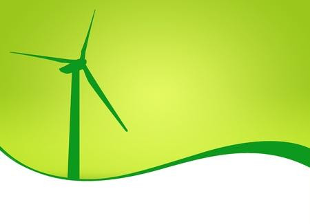 Beautiful green meadow with Wind turbines photo