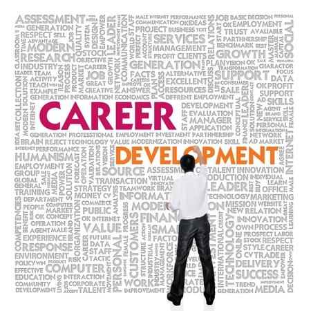 キャリア: ビジネス マンビル人的資源概念の単語雲