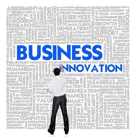 internal revenue service: Business man  building word cloud for business concept