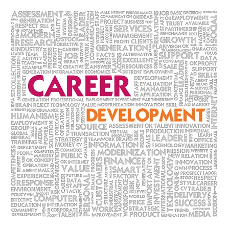 self development: Word cloud for career development Stock Photo