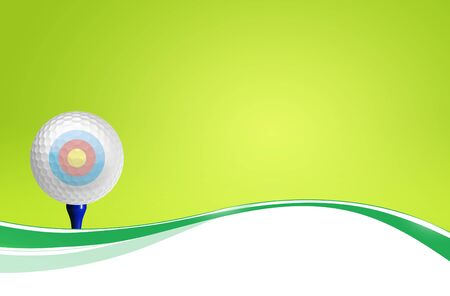 Golf ball on tee off with green grass field over the blue sky background Stock Photo - 11993347