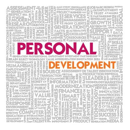 crecimiento personal: Nube de palabras para el concepto de desarrollo personal