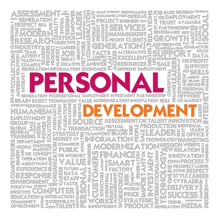 self development: Word cloud for personal development concept