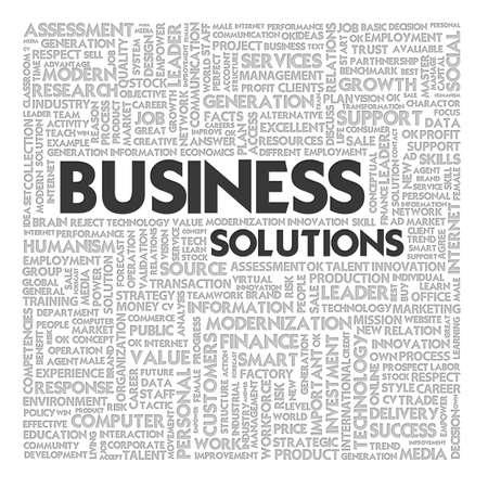 Word cloud business concept photo