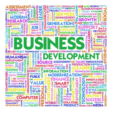 Word cloud business concept photo