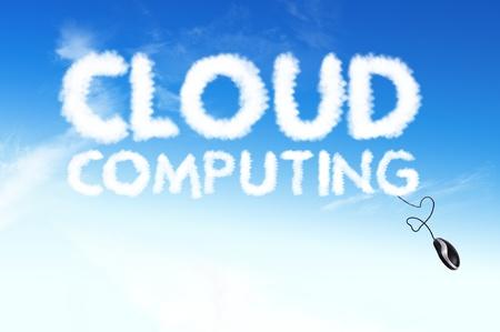 Business cloud text ,cloud,computing photo