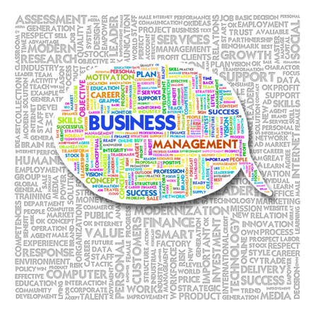 Word cloud of business and creative text photo