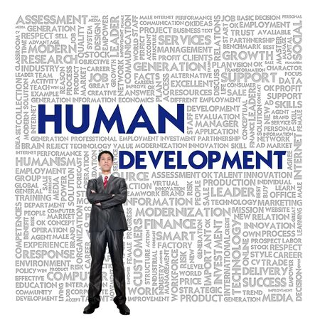 Word cloud for business concept,human development photo