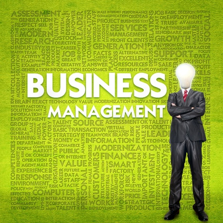 Word cloud for business concept photo