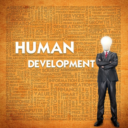 Word cloud for business concept,human development Stock Photo - 12351837