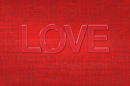 admirer: LOVE valentine Word cloud Stock Photo