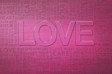 LOVE valentine Word cloud Stock Photo - 12351670