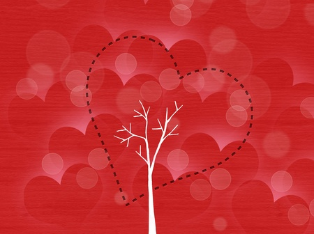 Heart tree with heart leaf photo