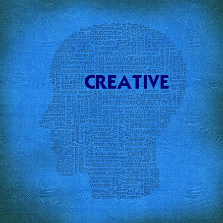 ability to speak: Word cloud business concept inside head shape, creative