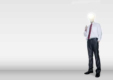 Business man stand for environmental and business idea concept photo