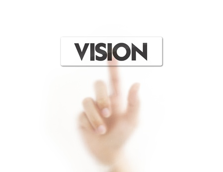 Finger pressing vision button photo