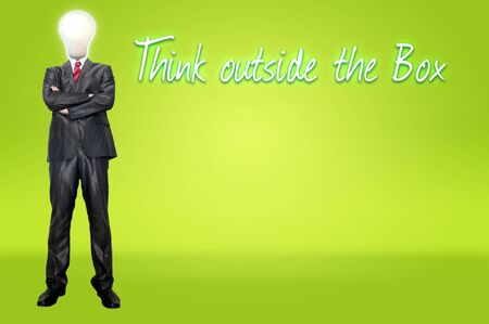 recognize: Business man think for concept idea Stock Photo