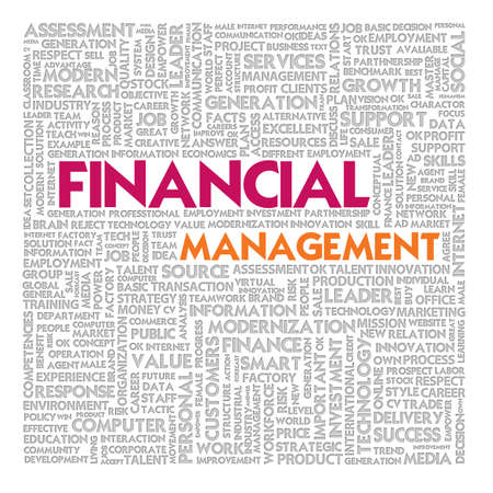 Business word cloud for business and finance concept photo