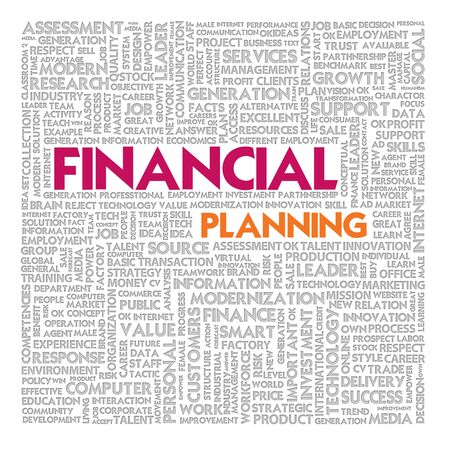 creative potential: Business word cloud for business and finance concept Stock Photo