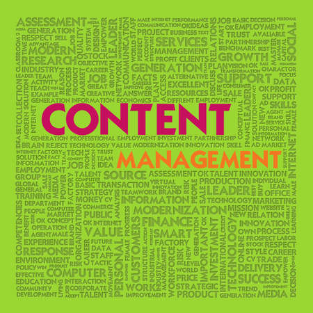 Business word cloud for business concept, content management Stock Photo - 13525900