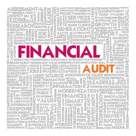 Business word cloud for business concept, Financial Audit photo