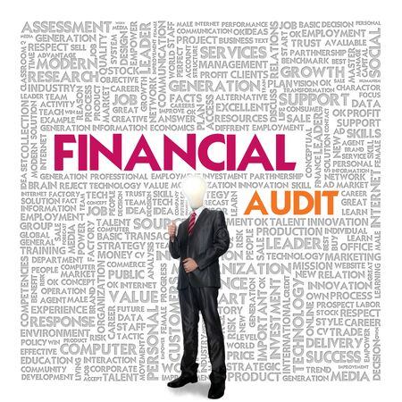 provide information: Business word cloud for business concept, Financial Audit