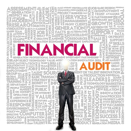 seeks: Business word cloud for business concept, Financial Audit