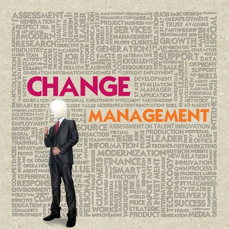 adapting: Business word cloud for business concept, Change Management