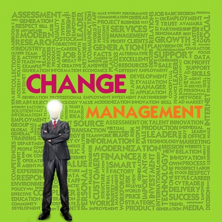 Business word cloud for business concept, Change Management Stock Photo - 13525903