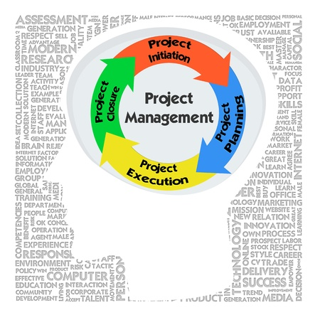 business products: Head with PRINCE2 model for project management Stock Photo