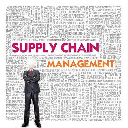 light chains: Business word cloud for business and finance concept, supply chain