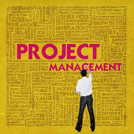 project manager: Business word cloud for business concept, Project management