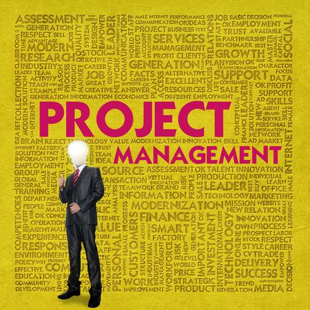 Business word cloud for business concept, Project management Stock Photo - 13525921