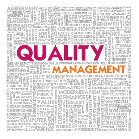 Business word cloud for business and finance concept, Quality Management Stock Photo - 13525844