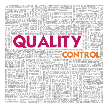 higher quality: Business word cloud for business and finance concept, Quality Management Stock Photo
