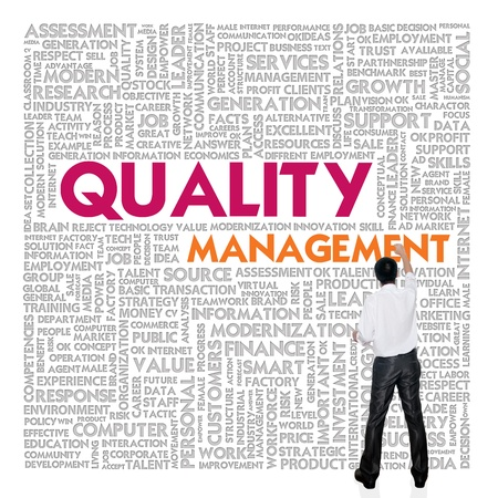 Business word cloud for business and finance concept, Quality Management Stock Photo - 13525850