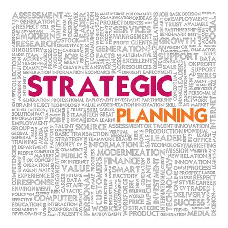 strengths: Business word cloud for business concept, Strategic planning Stock Photo