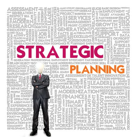 Business word cloud for business concept, Strategic planning photo