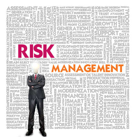 Business word cloud for business and finance concept, Risk Management photo