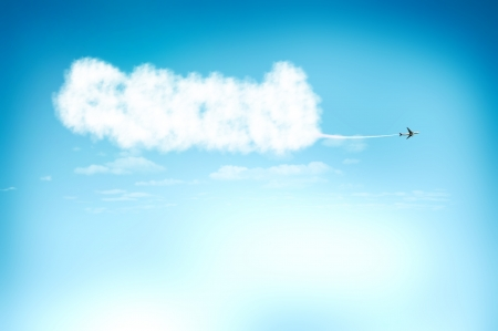 Plane on the sky for new and opportunity concept Stock Photo - 13773943