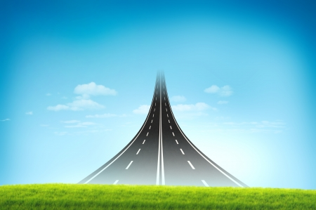 Road long run to the sky for new and opportunity concept Stock Photo - 13773987