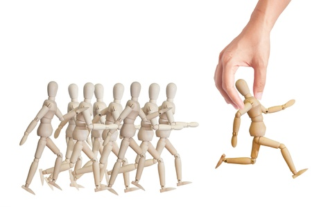 candidates: Hand choosing the perfect candidate for the job. Human resource concept